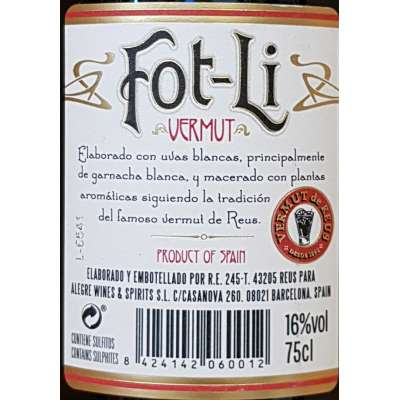 Vermut Fot-li - Rojo -