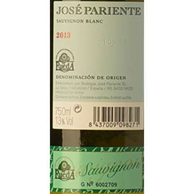 Vino Jose Pariente 2016 - Blanco -