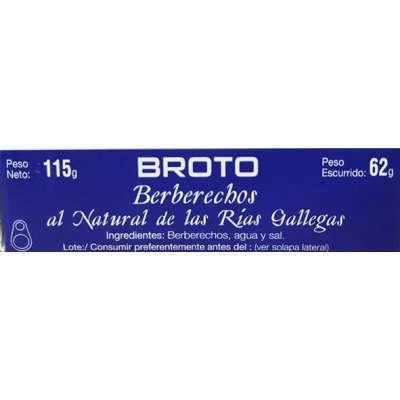 Berberechos al Natural Rias Gallegas 25/35 - Broto -